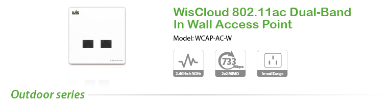 WisCloud 802.11ac Dual-Band In Wall Access Point