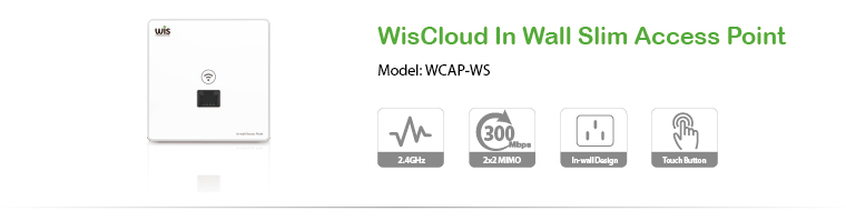 WisCloud In Wall Slim Access Point