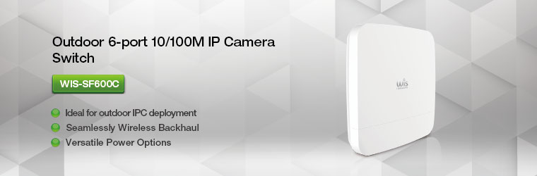 WIS-SF600C Outdoor 6-port 10/100M IP Camera Switch